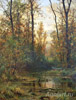 Shishkin Ivan. Forest Backwater - Autumn. Fine art print B3