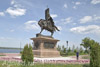 Samara. Monument to the founder of the city of Samara to Prince Grigory Zasyekin. Fine art postcard A6