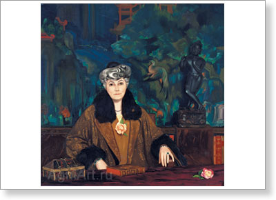 Roerich Svetoslav. Mme. Helena Roerich. Art print on canvas