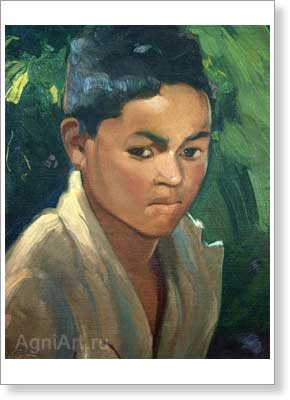 Roerich Svetoslav. Boy from Kulu. Art print on canvas