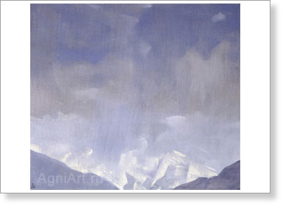 Roerich Svetoslav. Snowfall — Kulu. Art print on canvas