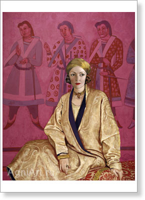 Roerich Svetoslav. Natasha Rambova. Art print on canvas