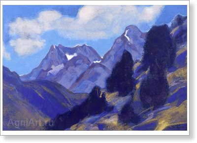 Roerich Svetoslav. Beling Ballah. Lahaul. Art print on canvas