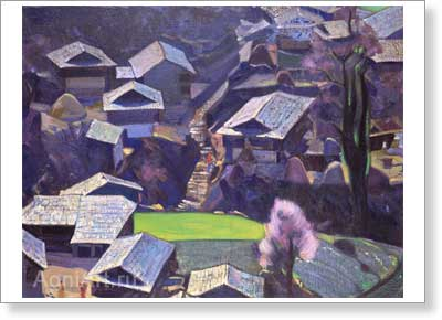 Roerich Svetoslav. Naggar. Art print on canvas