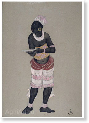 Roerich Svetoslav. Portrait of a Man (Sketch of a costume). Art print on canvas