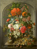 Waerdigh Dominicus Gottfried. Flowers and Fruit. Art print on canvas - paintings, sale