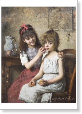 Kharlamov Alexey. Friends. Art print on canvas - paintings, sale of paintings