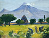 Saryan M. Ararat and Hripsime. Art print on canvas