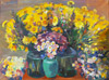 Saryan M. Flowers Still life. Art print on canvas