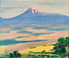 Saryan M. Ararat from Burokan. Morning. Art print on canvas