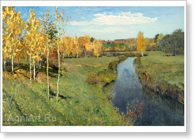 Levitan Isaac. Golden Autumn. Art print on canvas