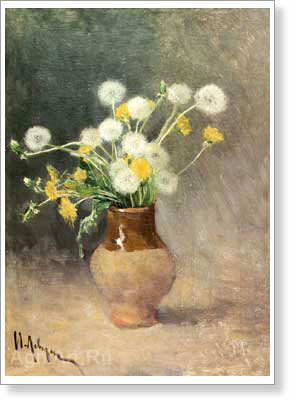 Levitan Isaac. Dandelions. Art print on canvas - paintings, sale