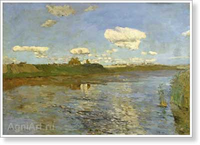 Levitan Isaac. Lake. Art print on canvas