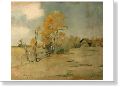 Levitan Isaac. Late autumn. Art print on canvas