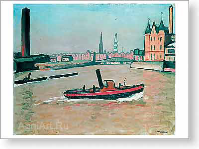 Marquet Albert. Port of Hamburg. Fine art print A2