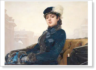 Kramskoy Ivan. Unknown Lady. Fine art print B3