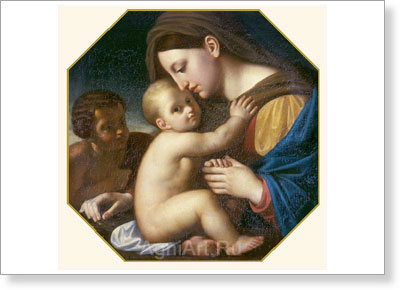 Yegorov Alexey. Madonna with the Infant Christ and St. John the Baptist. Art print on canvas