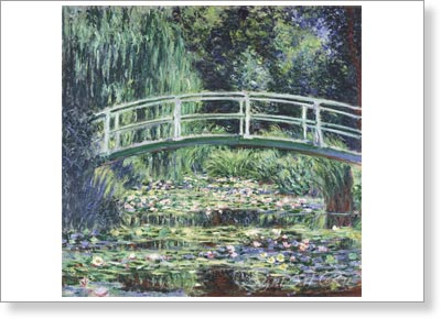 Monet Claude Oscar. France. White Water Lilies. Fine art print B2