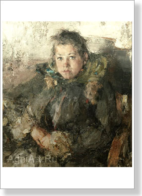 Feshin Nikholay. Portrait of the girl. Art print on canvas