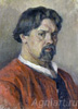 Surikov Vasily. Self-portrait.  Fine art postcard A6