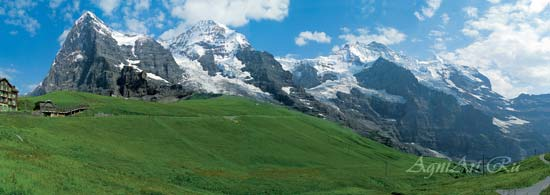 The Alps. View of Mount Jungfrau