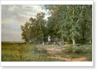 Shishkin Ivan. Haying in the Oak Wood. Fine art print A3