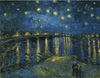 Gogh Vincent Van  . Starry night over Rhone. Fine art print A3
