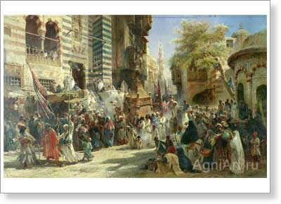 Makovsky Konstantin. Returning a Sacred Carpet to Cairo from Mecca. Art print on canvas
