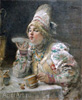 Makovsky Konstantin. Drinking Tea. Art print on canvas - paintings, sale of paintings