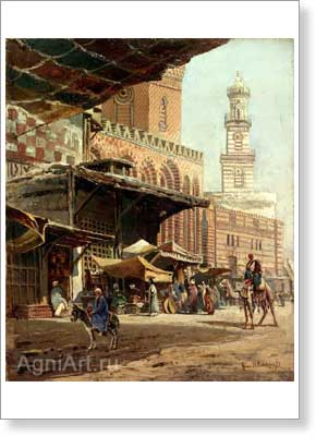 Makovsky Konstantin. Cairo. Art print on canvas