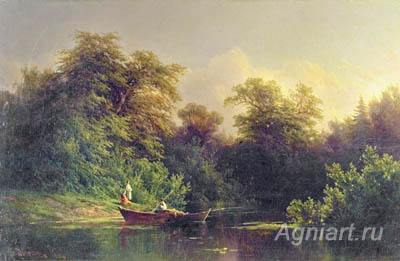 Jogin Pavel. On the Lake. Art print on canvas