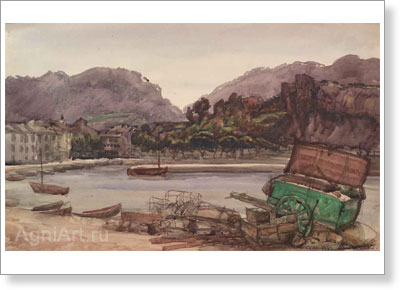 Benois Albert (Aleksandrovich). South of France — Cassis. Art print on canvas