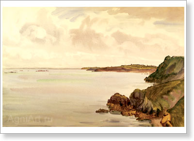Benois Albert (Aleksandrovich). Brittany - Brehat Island. Art print on canvas