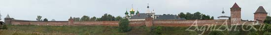 Suzdal. The Monastery of Our Saviour and St. Euphemius. Walls and towers