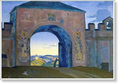 Roerich Nicholas. And We are Opening the Gates. Fine art print B2