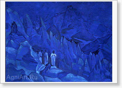 Roerich Nicholas. Burning of Darkness. Fine art print A3