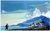 Roerich Nicholas. Pilgrim of the Radiant City. Fine art print A3