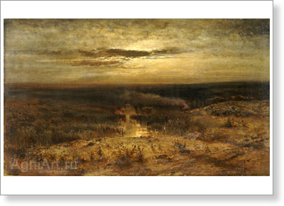 Savrasov Alexey. Moonlit Night: The Bog. Fine art print A3