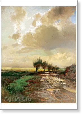 Savrasov Alexey. Country Road. Fine art print A4+