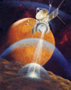 Sokolov Andrey . PHOBOS SPACECRAFT EXPLORING PHOBOS. Fine art postcard A6