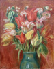 Renoir Pierre. Bouquet of tulips. Fine art print A3
