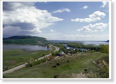 The Volga landscapes. The Samara Bend. View of the Sok River. 2123
