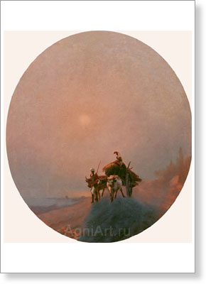 Aivazovsky Ivan. In the Mist. Fine art postcard A6