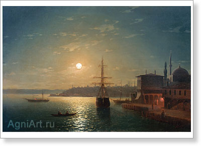 Aivazovsky Ivan. Golden Horn: Turkey. Fine art print B2