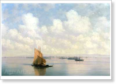Aivazovsky Ivan. Seascape. Art print on canvas - paintings, sale