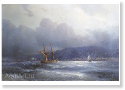 Aivazovsky Ivan. Trabzon from the Sea. Art print on canvas
