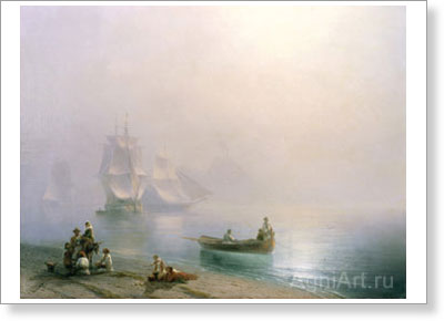 Aivazovsky Ivan. Morning in the Bay of Naples. Fine art print B2