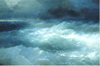 Aivazovsky Ivan. Amidst the Waves. Art print on canvas