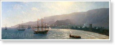 Aivazovsky Ivan. Arrival of Russian Troops in Feodosiya in 1771. Art print on canvas