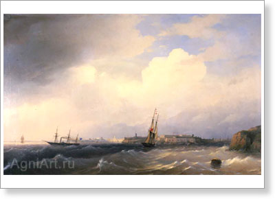Aivazovsky Ivan. Sveaborg. Art print on canvas